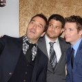 Jeremy Piven, Jerry Ferrara and Kevin Connolly turn the camera on themselves at the premiere of HBO's 'Entourage' Season 7 at Paramount Studios in Los Angeles, Calif., on June 16, 2010