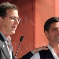 Bob Saget speaks at John Stamos' Walk of Fame ceremony in Hollywood on November 16, 2009