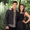 Taylor Lautner and Kristen Stewart attend 'The Twilight Saga: Eclipse' photocall at De Russie Jardin on June 17, 2010 in Rome, Italy