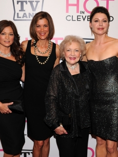 Valerie Bertinelli, Wendie Malick, Betty White and Jane Leeves attend the 'Hot in Cleveland' premiere at the Crosby Street Hotel, NYC, June 14, 2010
