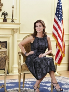 D.C. housewife Lynda Erkiletian poses for pictures at a photoshoot for Bravo&#8217;s &#8216;The Real Housewives of D.C.&#8217;