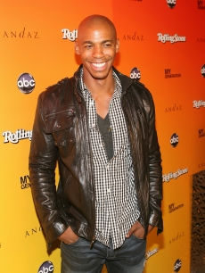 "Mehcad Brooks smiles for photographers at ABC's ""My Generation"" Rock the Roof event hosted by Rolling Stone Magazine at the Andaz Hotel in West Hollywood, Calif., on June 23, 2010"