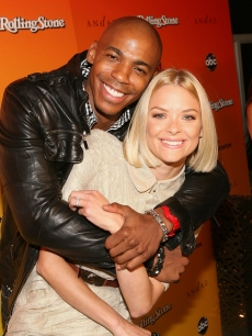 Mehcad Brooks hugs Jaime King at the ABC 'My Generation' Rock the Roof event at the Andaz Hotel in West Hollywood, Calif., on June 23, 2010