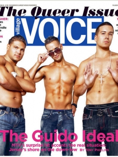 """Jersey Shore"" stars Mike ""The Situation"" Sorrentino, Ronnie Ortiz-Magro and Vinny Guadagino on the cover of The Village Voice"