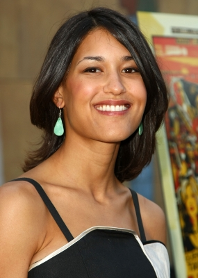 "Before joining 'Twilight's' Wolf Pack, Julia Jones showed she could hang with the boys at the premiere of ""Hell Ride"" on July 31, 2008"