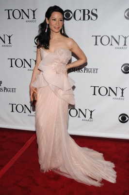 Lucy Liu is pretty in pink at the 64th Annual Tony Awards at Radio City Music Hall in New York City on June 13, 2010