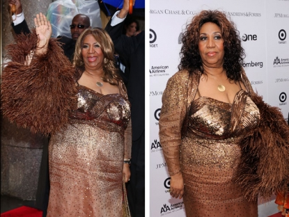 Aretha Franklin at the 64th Annual Tony Awards at Radio City Music Hall in New York City on June 13, 2010 / Aretha Franklin on the red carpet at the 2010 Apollo Theater Spring Benefit Concert & Awards Ceremony at The Apollo Theater in New York City on June 14, 2010
