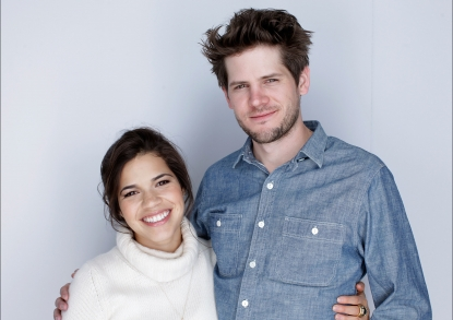 America Ferrera and director Ryan Piers Williams pose for a portrait during the 2010 Sundance Film Festival held at the WireImage Portrait Studio at The Lift on January 25, 2010