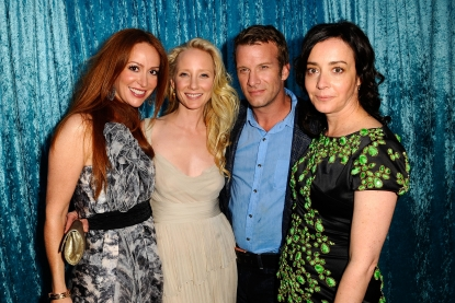 Rebecca Creskoff, Anne Heche, Thomas Jane and Jane Adams arrive at HBO's 'Hung' Season 2 premiere at Paramount Theater on the Paramount Studios lot, Hollywood, June 23, 2010