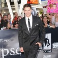 Kellan Lutz smiles for the camera on the red carpet at the 'The Twilight Saga: Eclipse' premiere at the Nokia Theatre in Los Angeles on June 24, 2010