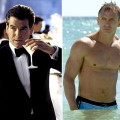 "Pierce Brosnan as James Bond in ""Die Another Day,"" 2002 (left), and Daniel Craig in ""Casino Royale,"" 2006 (right)"