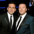 'Office' men Steve Carell and Ricky Gervais at the 61st Primetime Emmy Awards on September 20, 2009