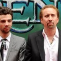 "Jay Baruchel and Nicolas Cage attend the premiere of ""The Sorcerer's Apprentice"" at the New Amsterdam Theatre, NY, July 6, 2010"