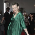 Milla Jovovich is spotted at the Schumacher Show during the Mercedes Benz Fashion Week Spring/Summer 2011 at Bebelplatz in Berlin, Germany on July 9, 2010
