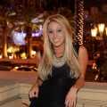 Vienna Girardi steps out at LAVO over the 2010 4th of July weekend in Las Vegas