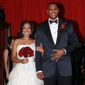 La La Vazquez and Carmelo Anthony celebrate their wedding in NYC on July 10, 2010