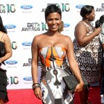 Nia Long arrives at the 2010 BET Awards held at the Shrine Auditorium on June 27, 2010 in Los Angeles, California.