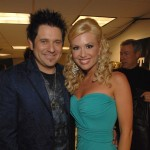 Jay DeMarcus of Rascal Flatts and Allison DeMarcus at the 2007 CMT Music Awards on April 16, 2007
