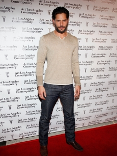 Joe Manganiello poses on the red carpet at the Art Los Angeles Contemporary Art Fair at Pacific Design Center in West Hollywood on January 28, 2010