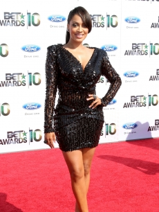 LaLa Vazquez smiles for the camera at the BET Awards at the Shrine Auditorium in Los Angeles on June 27, 2010