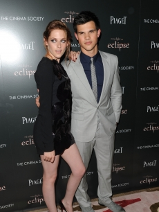 "Kristen Stewart and Taylor Lautner step out at The Cinema Society Screening Of ""The Twilight Saga: Eclipse"" at Crosby Street Hotel in New York, New York on June 28, 2010"