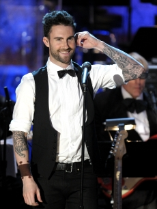 Adam Levine of Maroon 5 performs onstage at the 25th Annual Rock And Roll Hall of Fame Induction Ceremony at the Waldorf-Astoria, NYC, March 15, 2010
