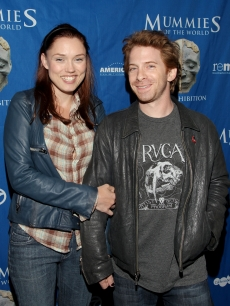 Clare Grant and Seth Green arrive at the Mummies of the World Exhibit Celebrity Preview at the California Science Center, LA, June 29, 2010
