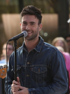 "Adam Levine of Maroon 5 performs on NBC's ""Today"" show at Rockefeller Center in New York City on July 2, 2010"