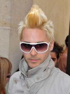 Jared Leto arrives to attend the Christian Dior show as part of Paris Fashion Week Fall/ Winter 2011 at Musee Rodin, Paris, July 5, 2010