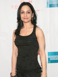 "Archie Panjabi attends the premiere of ""The Infidel"" during the Tribeca Film Festival at Village East Cinemas in New York City on April 25, 2010"