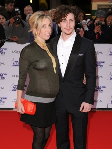 Director Sam Taylor-Wood and Aaron Johnson attend the National Movie Awards 2010 at the Royal Festival Hall on May 26, 2010 in London, England