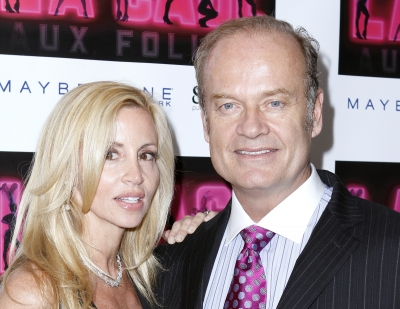 "Camille Grammer and Kelsey Grammer attend the opening of ""La Cage Aux Folles"" on Broadway at the Providence in New York Cityon April 18, 2010"