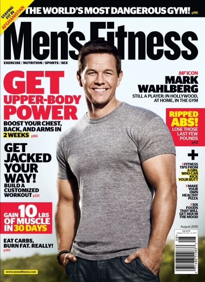 Mark Wahlberg on the August cover of Men's Fitness
