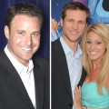 Chris Harrison (left), Jake Pavelka with Vienna Girardi in happier times