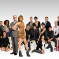 Project Runway's Heidi Klun and Tim Gunn with Season 8's designers