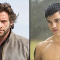 Hugh Jackman as Wolverine and Taylor Lautner as Jacob Black