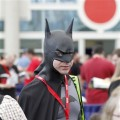 A fan channels Batman as he waits in line to get into the preview night at the Comic-Con International at the San Diego Convention Center in San Diego, Calif., on July 21, 2010