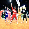 The Mighty Morphin Power Rangers turn up to save the world at the Comic-Con International at the San Diego Convention Center in San Diego, Calif., on July 22, 2010
