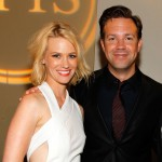 January Jones and Jason Sudeikis seen backstage at the 2010 ESPY Awards at Nokia Theatre L.A. Live in Los Angeles, California on July 14, 2010