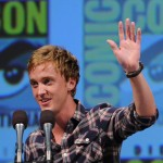 "Tom Felton speaks onstage at the ""Harry Potter and the Deathly Hallows"" panel discussion during Comic-Con 2010 at the San Diego Convention Center on July 24, 2010 in San Diego, Calif."