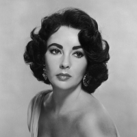 Elizabeth Taylor in 1954 in a promotional shot for the film 'Elephant Walk'