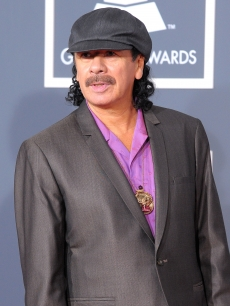 Carlos Santana hits the red carpet at the 52nd Annual GRAMMY Awards held at Staples Center in Los Angeles, California on January 31, 2010
