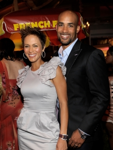 Boris Kodjoe and Nicole Ari Parker attend Serena Williams' Pre-ESPYs House Party held at a private residence in Bel Air, Calif., on July 12, 2010
