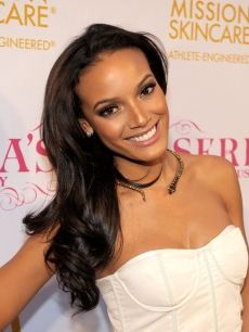 Selita Ebanks smiles for cameras at Serena Williams' Pre-ESPYs House Party held at a private residence in Bel Air, Calif., on July 12, 2010