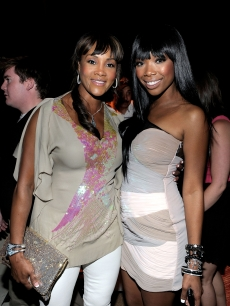 Vivica A. Fox and Brandy pose together at Serena Williams' Pre-ESPYs House Party held at a private residence in Bel Air, Calif., on July 12, 2010