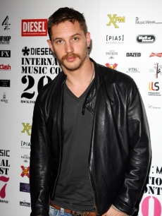 Tom Hardy looks suave in a leather jacket at the Diesel U-Music Awards held at KOKO in London, England on October 3, 2007