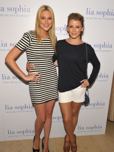 """The Hills"" stars Stephanie Pratt and Lo Bosworth arrive at the ""Lia Sophia Lanaya II"" collection preview at the Sunset Tower hotel in West Hollywood, Calif., on July 14, 2010"