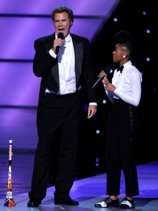 Will Ferrell and Janelle Monae perform on stage during the ESPY Awards at Nokia Theatre L.A. Live in Los Angeles on July 14, 2010