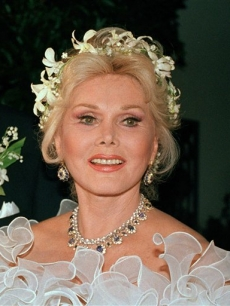 Zsa Zsa Gabor, pictured in 1986