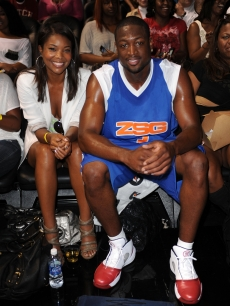 Gabrielle Union and NBA star Dwyane Wade attend the Summer Groove All-Star Basketball Game at American Airlines Arena in Miami, Florida on July 18, 2010